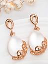 Women\'s Fashion Gold Plated Dangle Earrings Brincos Jewelry Bijoux Water Drop Opal Earring Boucle d\'oreille femme