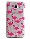 Crane Pattern Material TPU Phone Case For Samsung Galaxy J5 J5(2016) J3(2016)