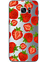 Coque Pour Samsung Galaxy Samsung Galaxy S7 Edge Motif Coque Fruit Flexible TPU pour S7 edge S7 S6 edge plus S6 edge S6