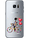 Cycling girl TPU Soft Back Cover Case for  Samsung Galaxy S6  S7 edge Plus