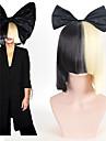 Synthetische pruiken / Kostuum pruiken Recht Black-Blonde Met pony Zwart Synthetisch haar Dames Strik / Sia Styling Black-Blonde Pruik Kort Zonder kap