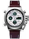 Мужской Спортивные часы Наручные часы LED Календарь Защита от влаги С двумя часовыми поясами тревога Хронометр ФосфоресцирующийЦифровой