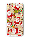 Coque Pour Apple iPhone X iPhone 8 Plus Coque iPhone 5 iPhone 6 iPhone 7 Translucide Motif Coque Noel Flexible TPU pour iPhone X iPhone 8
