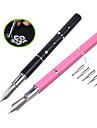 1pcs Nal Art Design Pen with 5pcs Dotting Heads Metal Handle Painting Drawing Line Salon Nail Beauty Decoration Tools