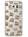 Monkey Emoji Tile Pattern Soft Ultra-thin TPU Back Cover For Samsung GalaxyS7 edge/S7/S6 edge/S6 edge plus/S6/S5/S4