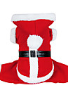 Cachorro Fantasias Casacos Camisola com Capuz Roupas para Caes Fofo Fantasias Natal Solido Vermelho Ocasioes Especiais Para animais de