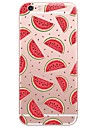 Cartoon Watermelon  Pattern Transparent Soft TPU Phone Case for iPhone 7Plus 7 6s Plus 6 Plus 6s 6 SE 5s 5