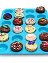 24 공동 실리콘 머핀 컵 케이크 쿠키 초콜릿 몰드 팬 베이킹 트레이 금형 임의의 색상