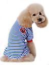 Hond Jumpsuits Pyjama Hondenkleding Matroos Zwart Rood Blauw Katoen Kostuum Voor huisdieren Heren Dames Schattig Casual/Dagelijks