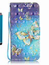 Coque Pour Samsung Galaxy S7 edge S7 Porte Carte Portefeuille Avec Support Coque Integrale Papillon Dur faux cuir pour S7 edge S7 S6 edge