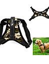 Dog Harness Adjustable / Retractable Vest Leopard Camouflage Fabric Black Red Camouflage Color Leopard