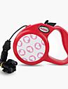 Dog Leash Adjustable / Retractable Cartoon Nylon Black Gray Red Pink