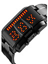 SKMEI® Men\'s Fashion Watch Digital LED / Calendar / Water Resistant/Water Proof Alloy Band Cool Black / Silver Brand