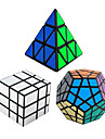 3Pcs Rubik\'s Cube Shengshou Smooth Speed Cube Pyraminx Alien Megaminx Mirror Cube Speed Professional Level Magic Cube ABS Tower New Year