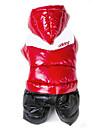 Chat Chien Manteaux Pulls à capuche Tenue Vêtements pour Chien Garder au chaud Coupe-vent Couleur Pleine Rouge Rose Rouge Vert Bleu Rose