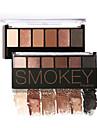 6 Paleta de Sombras Secos Mate Brilho Mineral Paleta da sombra Po Maquiagem para o Dia A Dia Maquiagem para Dias das Bruxas Maquiagem de