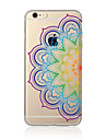 Pour Translucide / Motif Coque Coque Arriere Coque Mandala Flexible TPU AppleiPhone 7 Plus / iPhone 7 / iPhone 6s Plus/6 Plus / iPhone