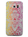 For Samsung Galaxy S7 S6 Case Cover Palace Of Flowers Pattern Painted TPU Material Phone Case