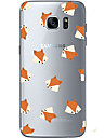 Coque Pour Samsung Galaxy S7 edge S7 Ultrafine Transparente Motif Coque Arriere Animal Flexible TPU pour S7 edge S7 S6 edge plus S6 edge
