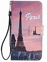 Pour lg k10 k7 boitier couverture eiffel tour peint lanyard pu telephone cas pour nexus 5x lss775 xpower