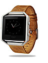Watch Band for Fitbit Blaze Fitbit Classic Buckle Leather Loop Metal Leather Wrist Strap