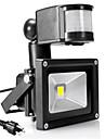 LED прожекторы Датчик Портативные Простая установка Водонепроницаемый Уличное освещение Гараж / автостоянка Тёплый белый Холодный белый