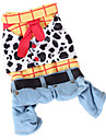 Dog Costume Clothes/Jumpsuit Dog Clothes Cowboy Fashion Jeans Rainbow