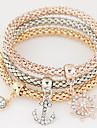 Pentru femei În Straturi Grămadă Brățări cu Talismane - Ștras, Diamante Artificiale Ancoră femei, Lux, European, stil minimalist, Modă Brățări Curcubeu Pentru Cadou Zilnic