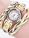 Women\'s Quartz Wrist Watch Bracelet Watch Colorful Punk PU Band Charm Vintage Casual Bohemian Fashion Cool Bangle Black White Blue Red