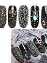 1 pcs Украшения для ногтей блестит / Мода Повседневные Дизайн ногтей