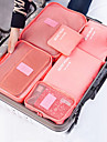 Textile Plastic Oval Travel Home Organization, 1pc Storage Bags