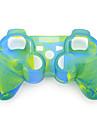 защитный двойной цвет силиконовый чехол для PS3 контроллер (синий и зеленый)