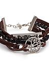 Men\'s Women\'s Leather Bracelet Wrap Bracelet Jewelry Friendship Multi Layer Punk Adjustable DIY PU Alloy Leaf Infinity Jewelry For Daily