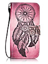 For Samsung Galaxy S3 S4 Case Cover Wind Chimes Pattern Painting Card Stent PU Leather