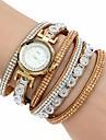 Femme Montre Tendance Montre Bracelet Bracelet de Montre Quartz Colore Imitation de diamant Polyurethane Banderetro Etincelant Boheme