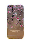Peach Blossom Pattern TPU Relief Thin Transparent Diamond Paste Back Cover Case for iPhone 6/6S