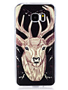Coque Pour Samsung Galaxy Phosphorescent IMD Motif Coque Animal Flexible TPU pour S7 edge S7 S6 edge S6 S5