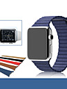 Horlogeband voor Apple Watch Series 3 / 2 / 1 Apple Leren lus Echt leer Polsband
