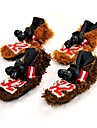 Cat / Dog Shoes & Boots Keep Warm Winter Solid Brown Polar Fleece / Rubber