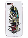 For iPhone 7 iPhone 6 iPhone 5 Case Case Cover Glow in the Dark IMD Back Cover Case Feathers Soft TPU for Apple iPhone 7 Plus iPhone 7