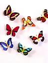 1pc ha condotto la luce atmosfera lampada della notte con la luce cambia farfalla colorata interna con ventosa casa partito scrivania decorazione della parete