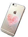 Pink Hearts Pattern TPU Transparent Soft Shell Phone Case Back Cover Case for iPhone 6s 6 Plus