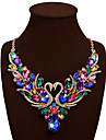 Women\'s Statement Necklace / Bib necklace - Rhinestone Swan, Animal Statement, Luxury, Bohemian White, Red, Rainbow Necklace For Wedding, Party, Special Occasion