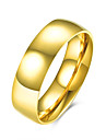 Ring Stainless Steel Titanium Steel Simple Style Fashion Golden Jewelry Daily Casual 1pc