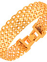 New Fashion Men\'s Bracelets High Quality 18k Gold Plated Women Fashion India Jewelry Bangles Chain Gifts B40107