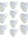 10 шт. 3W 250lm GU4(MR11) Точечное LED освещение MR11 12 Светодиодные бусины SMD 5733 Декоративная Тёплый белый Холодный белый 30V