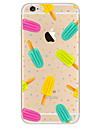 Para iPhone X iPhone 8 iPhone 7 iPhone 7 Plus iPhone 6 Case Tampa Ultra-Fina Estampada Capa Traseira Capinha Comida Macia PUT para Apple