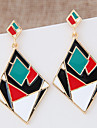 Drop Earrings Alloy Statement Jewelry Fashion Black Rainbow Jewelry 1 pair
