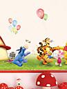Животные Мода Мультипликация Наклейки Простые наклейки Декоративные наклейки на стены, Бумага Украшение дома Наклейка на стену Стена