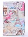 Pour Porte Carte Veille/Deverrouillage Automatique Relief Coque Coque Integrale Coque Tour Eiffel Dur Cuir PU pour SamsungTab E 9.6 Tab A